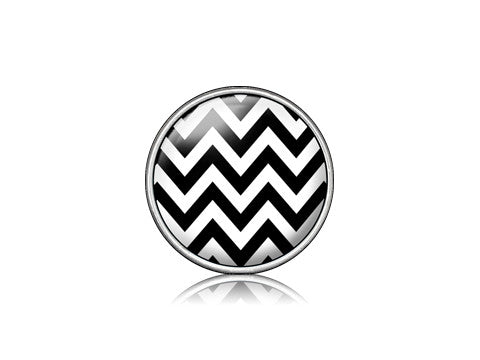 Chevron Black / Silver