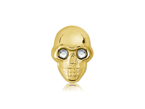Swarovski Crystal Eyes / 18k Gold Skull