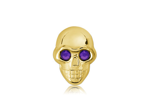 Swarovski Purple Eyes / 18k Gold Skull