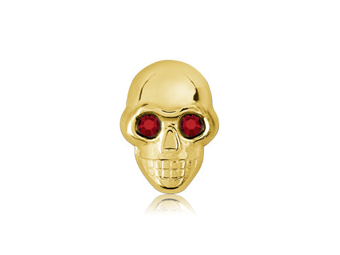 Swarovski Red Eyes / 18k Gold Skull