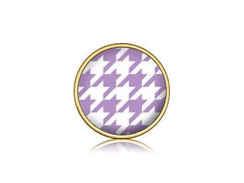 Houndstooth Purple / 18k Gold