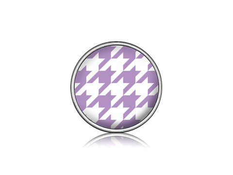 Houndstooth Purple / Silver