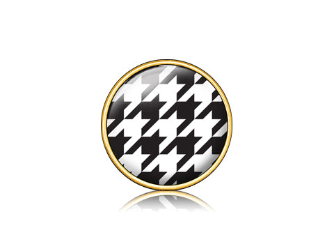 Houndstooth Black / 18k Gold