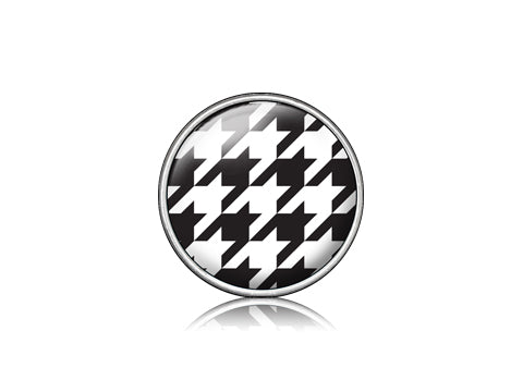 Houndstooth Black / Silver