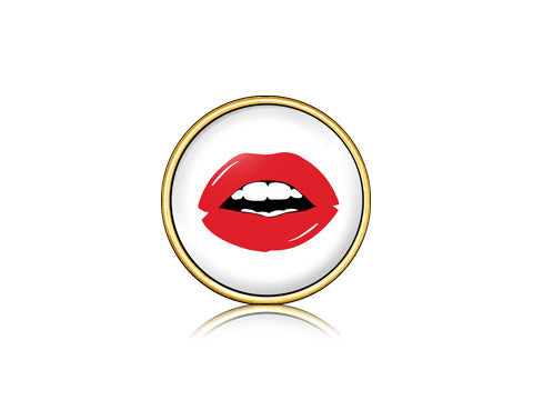 Lips Red / 18k Gold