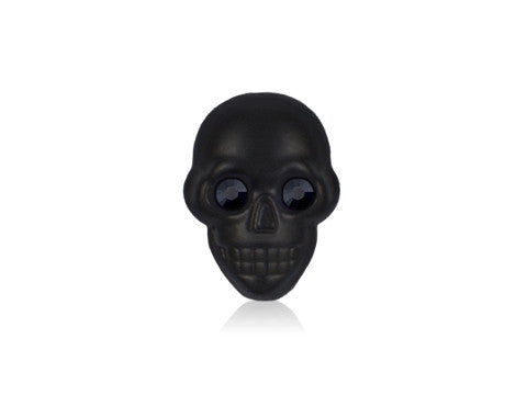 Black Matte Skull Swarovski Black Eyes