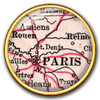 Paris Map  / 18k Gold