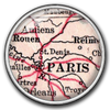 Paris Map / Silver
