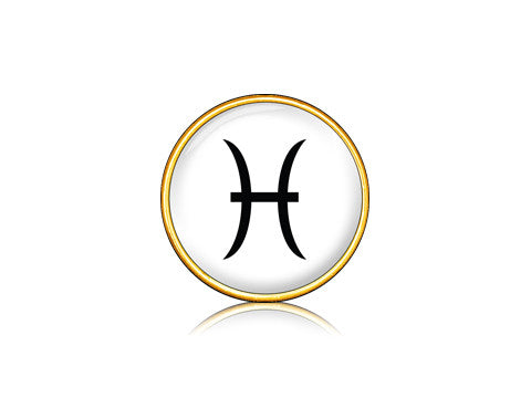 Zodiac Sign - Pisces / 18k Gold