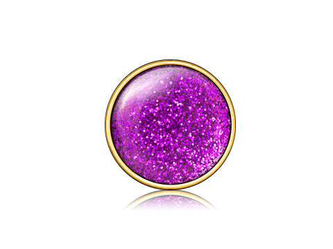 Glitter Purple  / 18k Gold