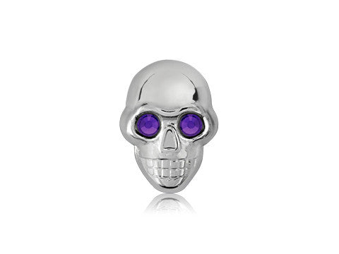 Swarovski Purple Eyes / Silver Skull