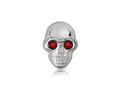Swarovski Red Eyes / Silver Skull