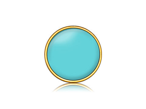 Turquoise / 18k Gold