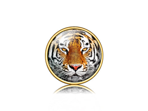Tiger Face / 18k Gold