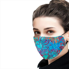 Bright Blooms Design - Non-Pleated Mask