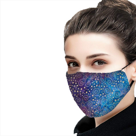 Stars at Night Design - Non-Pleated Mask