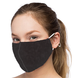 Black Design - Non-Pleated Mask