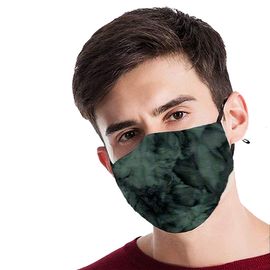 Charcoal Swirl Design - Non-Pleated Mask