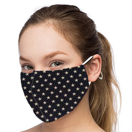 Small Gold Stars Design - Non-Pleated Mask