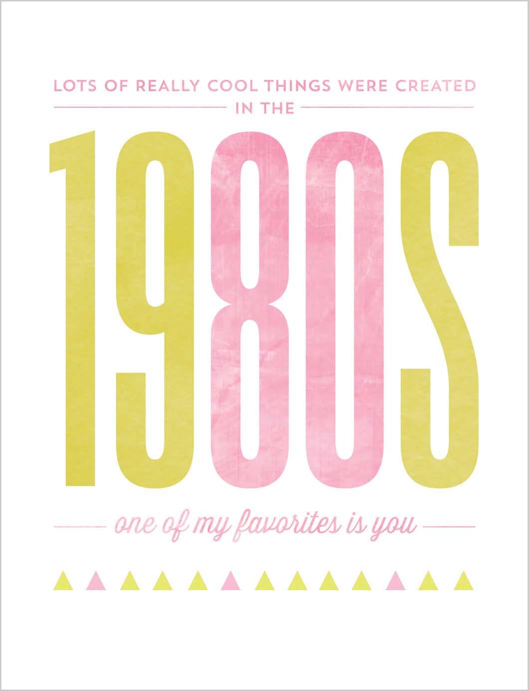 Birthday Card - The 1980s - Gia Graham