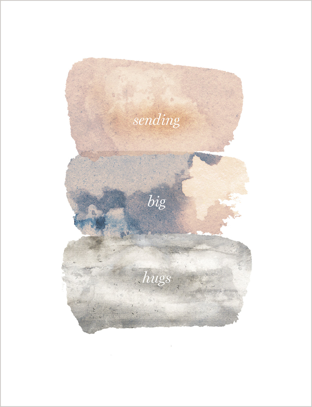 Sympathy Card - Sending Big Hugs
