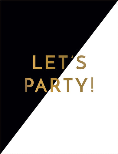 Birthday Card - Let's Party