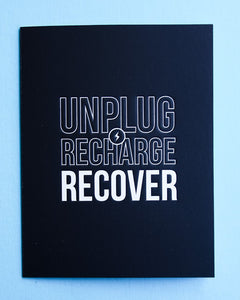 Get Well Card - Unplug Recharge Recover - Gia Graham 0004.05060