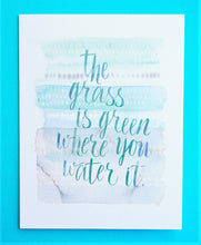 Load image into Gallery viewer, Friendship Card - The Grass is Green Where You Water It - Nikki Chu