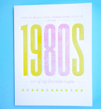 Load image into Gallery viewer, Birthday Card - The 1980s - Gia Graham