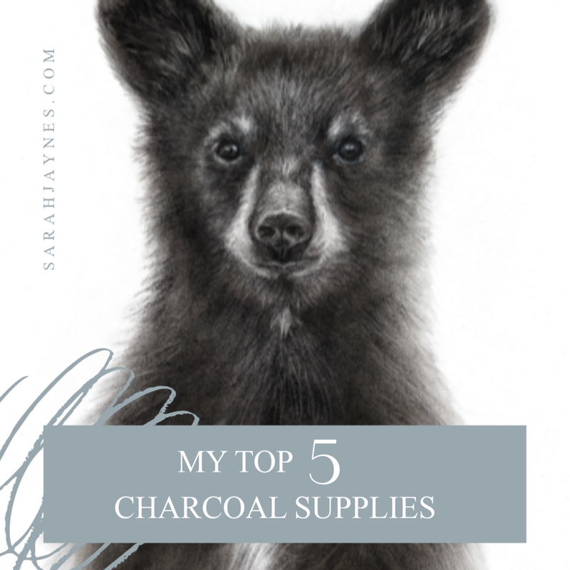 My 5 Essential Charcoal Supplies