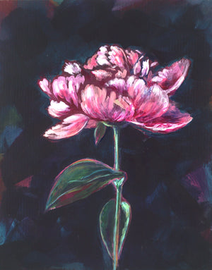 PEONY FOR LIZ | 8x10 | ORIGINAL ACRYLIC PAINTING ON WOOD| Item number 20-10P