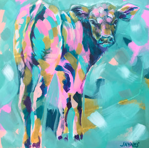 CONCESSION 7 CALF | 12x12 | ORIGINAL ACRYLIC PAINTING ON CANVAS | Item number 18-41P