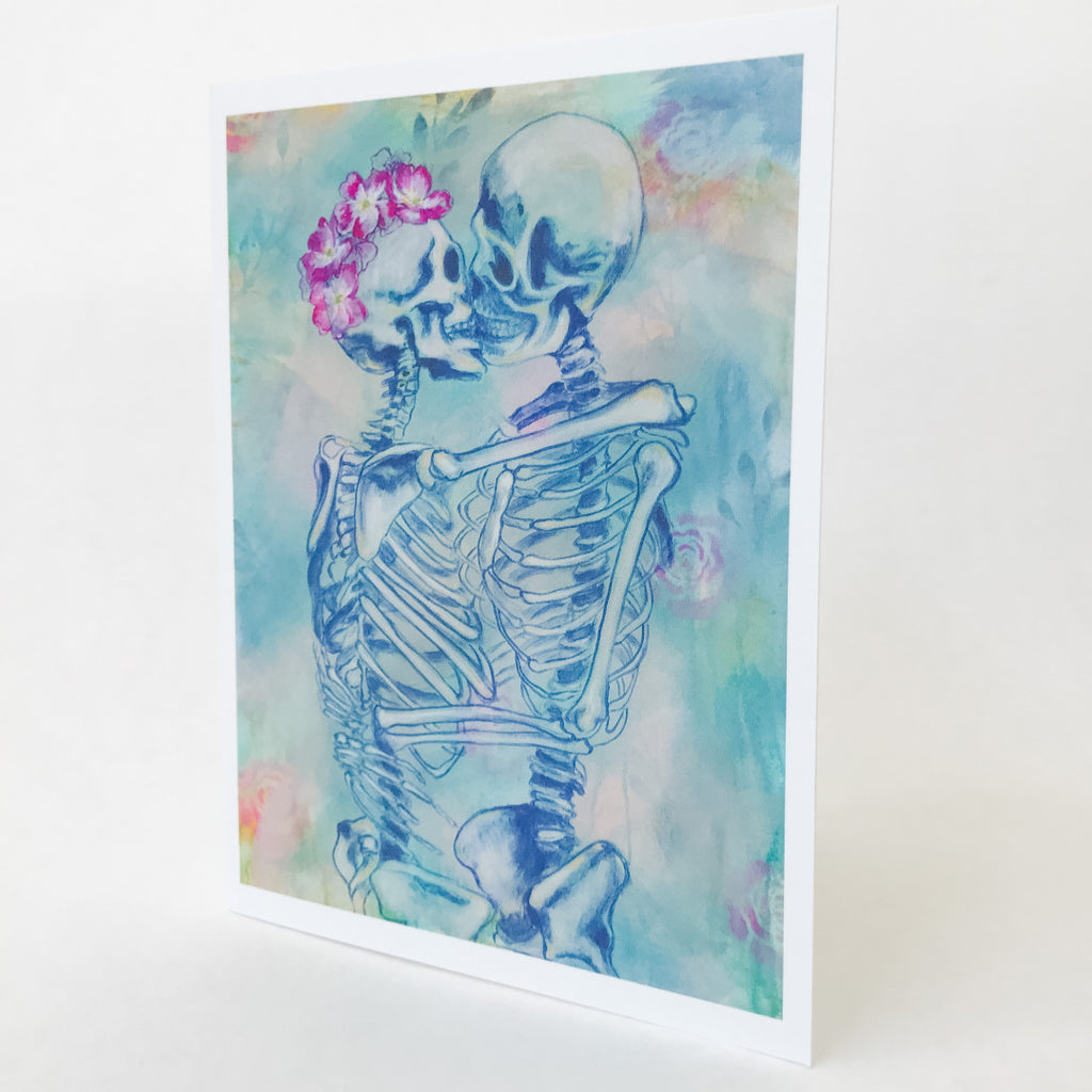 SET OF 6 SKELETON NOTECARDS