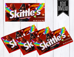 FORTNITE BOX SKITTLES LABELS- DIGITAL