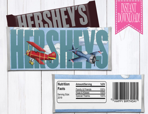 AIRPLANE HERSHEY LABEL - DIGITAL