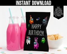 Load image into Gallery viewer, AMONG US CHIP BAG- INSTANT DOWNLOAD