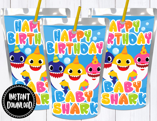 BABY SHARK JUICE LABEL- DIGITAL