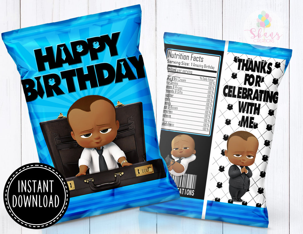 BOSS BABY CHIP BAG SHORT HAIR- DIGITAL FILE