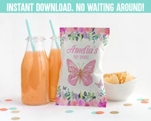 Load image into Gallery viewer, EDIT YOURSELF- BUTTERFLY BABY SHOWER CHIP BAG