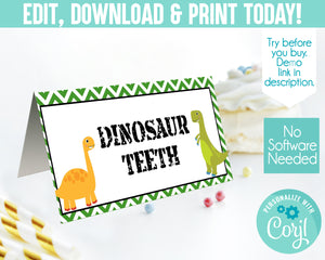EDIT YOURSELF- DINOSAUR FOOD TENT