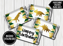 Load image into Gallery viewer, DINOSAUR MINI CHOCOLATE LABELS -DIGITAL