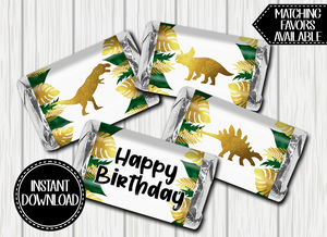 DINOSAUR MINI CHOCOLATE LABELS -DIGITAL