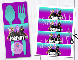 FORTNITE NAPKIN RINGS - INSTANT DOWNLOAD!