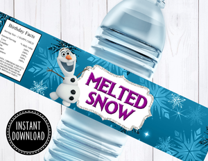 FROZEN WATER BOTTLE LABEL- DIGITAL ONLY!