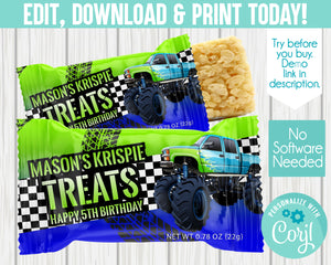 EDIT YOURSELF- MONSTER TRUCK MARSHMALLOW SQUARES