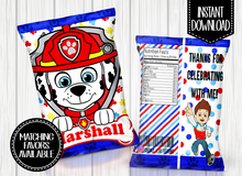 Load image into Gallery viewer, PAW PATROL- MARSHALL CHIP BAG DIGITAL ONLY