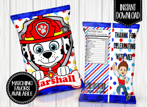 PAW PATROL- MARSHALL CHIP BAG DIGITAL ONLY