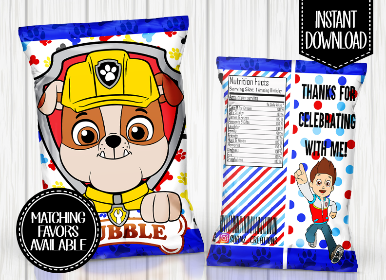 PAW PATROL- RUBBLE CHIP BAG DIGITAL ONLY