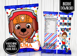 Copy of PAW PATROL- ZUMA CHIP BAG DIGITAL ONLY