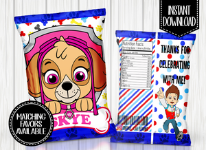 PAW PATROL- SKYE CHIP BAG DIGITAL ONLY